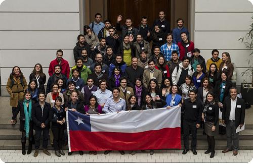 Los participantes de la reunión fundacional de la Red de Inverstigadores Chilenos en Alemania - Red INVECA