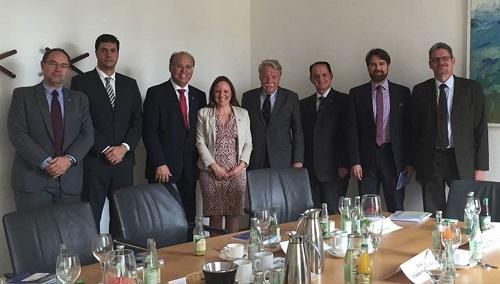 Dipl.-Pol. Luise Freitag, Referentin und Förderbeauftragte mit der politischen Delegation aus Brasilien
